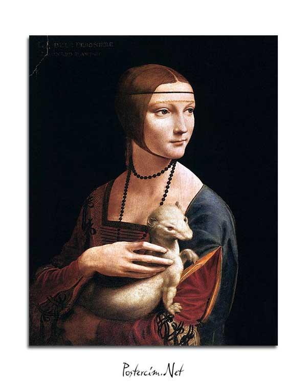 Leonardo Da Vinci - Erminli Kadın, Cecilia Gallerani posteri