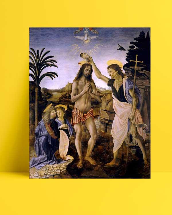 Leonardo Da Vinci - İsa'nın Vaftizi afişi