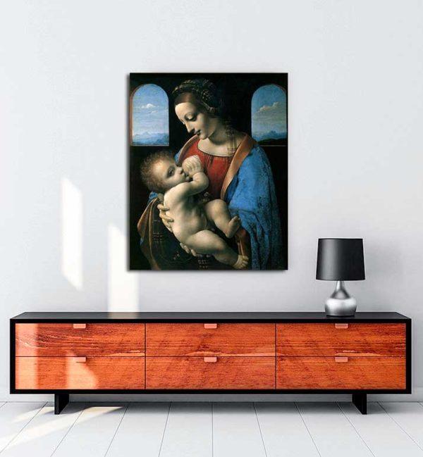 Leonardo Da Vinci - Meryem Ana ve Çocuk kanvas tablo