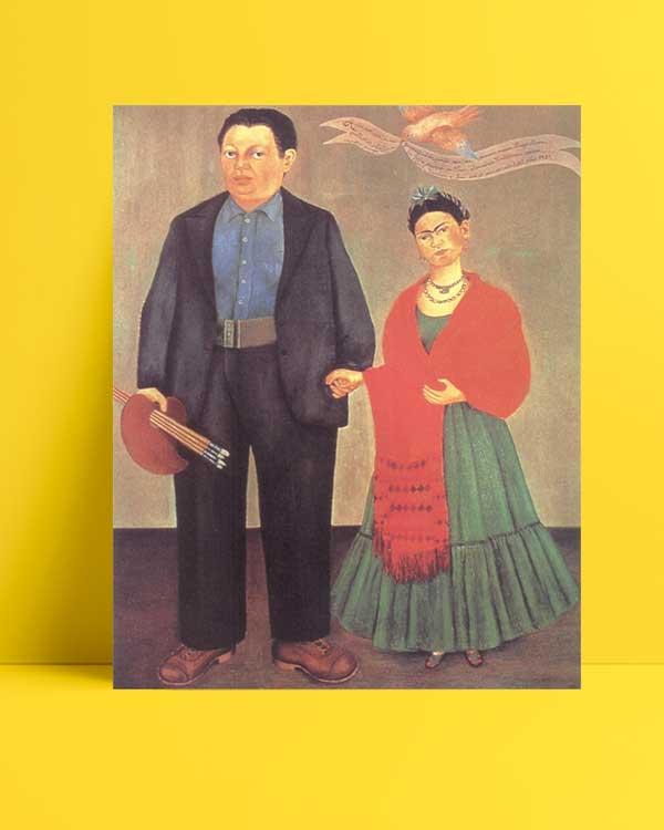 Frida Kahlo - Frida ve Diego Rivera afişi