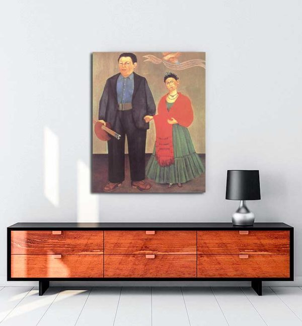 Frida Kahlo - Frida ve Diego Rivera kanvas tablo