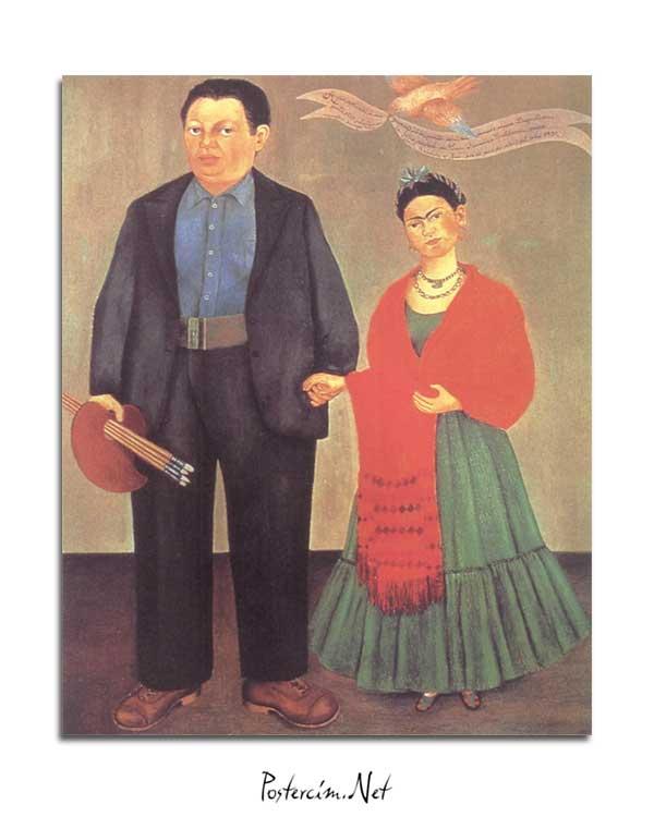 Frida Kahlo - Frida ve Diego Rivera posteri