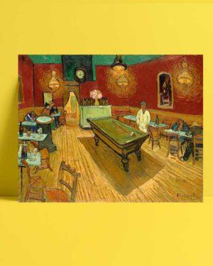 Vincent van Gogh - Gece Kahvesi afişi