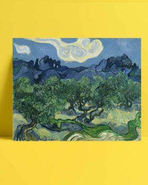 Vincent van Gogh - Alpilles Önünde Zeytin Ağaçları afişi