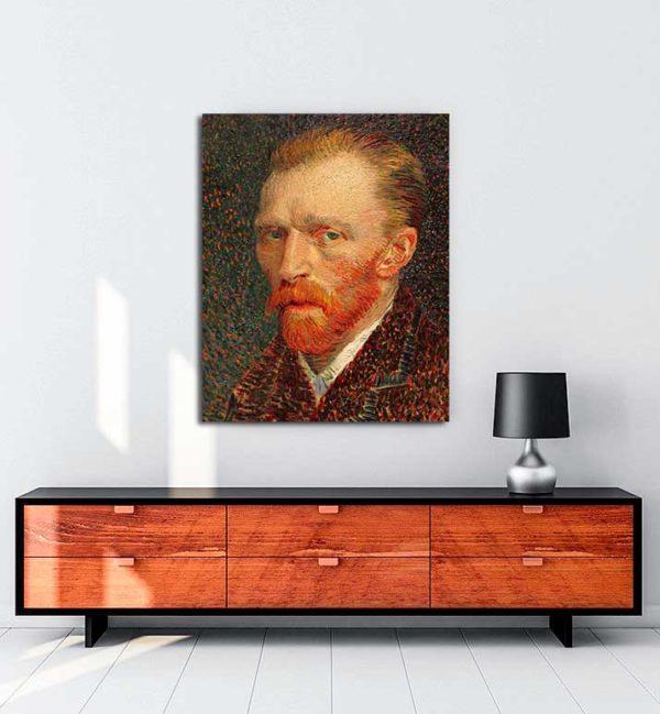 Vincent van Gogh - Otoportre 2 kanvas tablo
