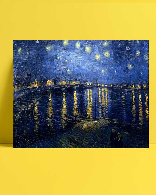 Vincent van Gogh - Rhône Üzerinde Yıldızlı Gece afişi