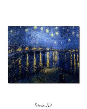 Vincent van Gogh - Rhône Üzerinde Yıldızlı Gece posteri