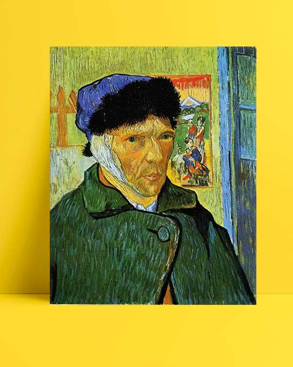 Vincent van Gogh - Sargılı Kulaklı Otoportre afişi
