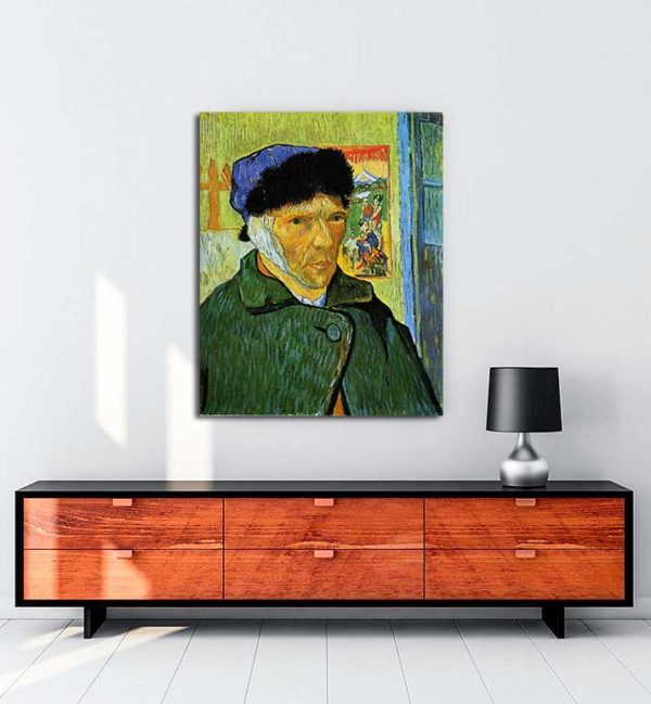 Vincent van Gogh - Sargılı Kulaklı Otoportre kanvas tablo