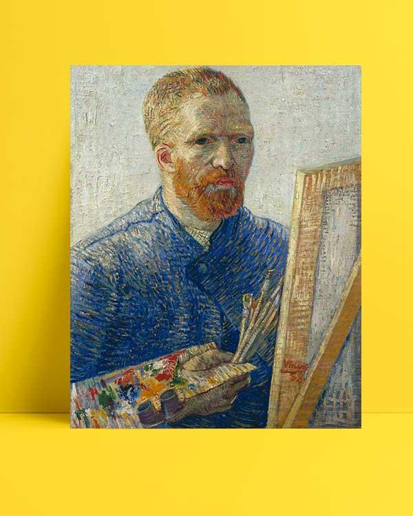 Vincent van Gogh -Şövale Önünde Otoportre afişi