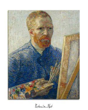 Vincent van Gogh -Şövale Önünde Otoportre posteri