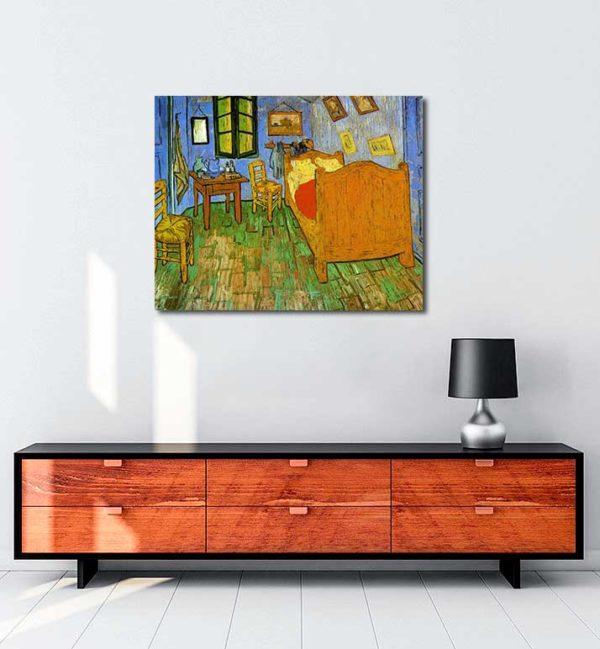 Vincent van Gogh - Gogh'un Arles'teki Yatak Odası kanvas tablo