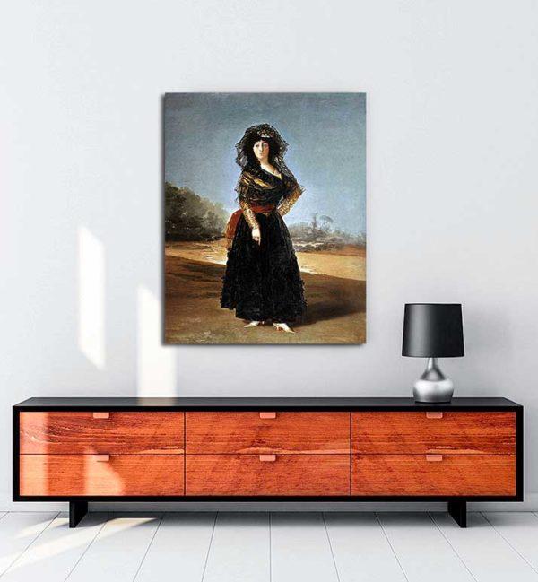 Francisco Goya - Alba Düşesi'nin Portresi kanvas tablo