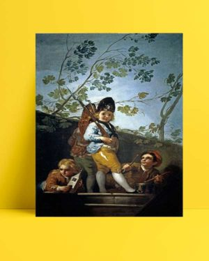 Francisco Goya - Askercilik Oynayan Çocuklar afişi