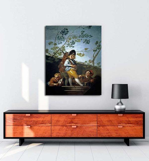 Francisco Goya - Askercilik Oynayan Çocuklar kanvas tablo