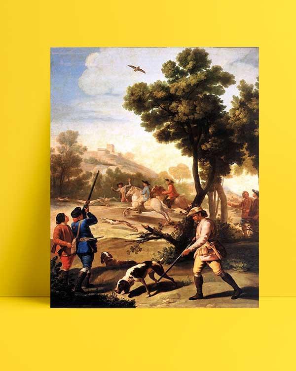 Francisco Goya - Bıldırcın Avı afişi