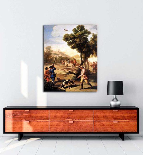 Francisco Goya - Bıldırcın Avı kanvas tablo