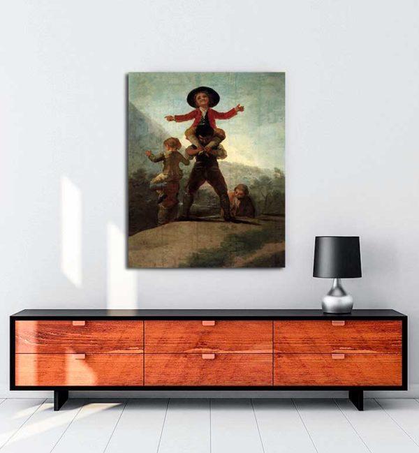 Francisco Goya -Cücelerin Oyunu kanvas tablo