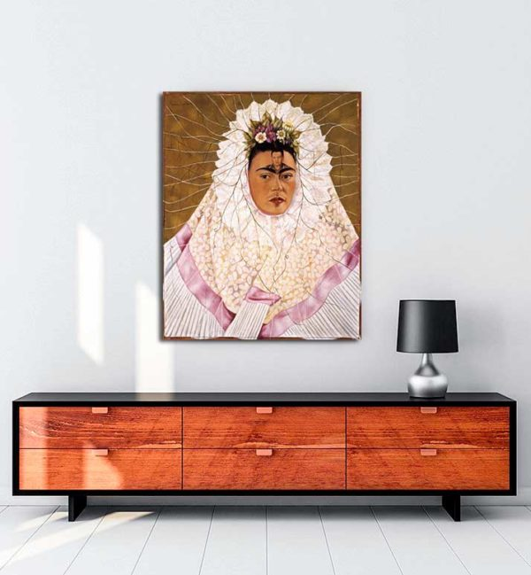 Frida Kahlo - Diego'yu düşünmek kanvas tablo