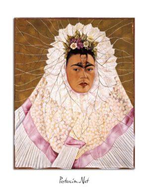 Frida Kahlo - Diego'yu düşünmek posteri