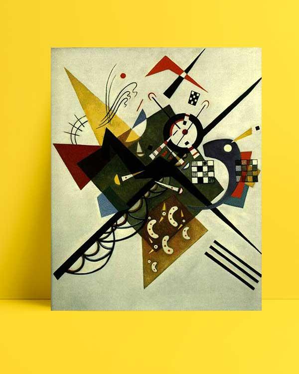 Vasili Kandinski - Beyaz Üzerine afişi