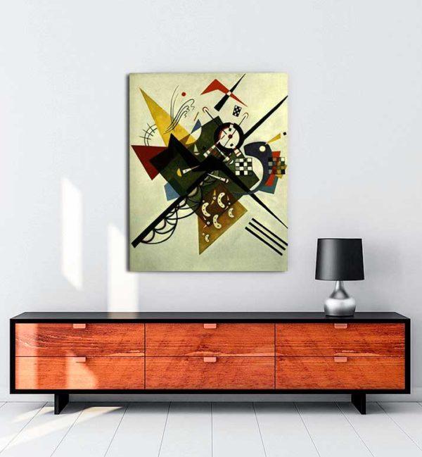 Vasili Kandinski - Beyaz Üzerine kanvas tablo