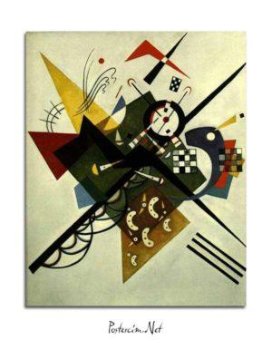 Vasili Kandinski - Beyaz Üzerine posteri