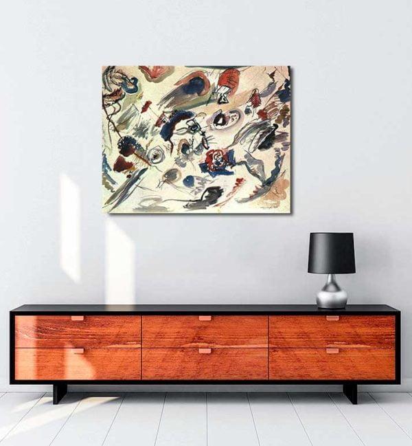 Vasili Kandinski - İlk Soyut Sulu Boya kanvas tablo