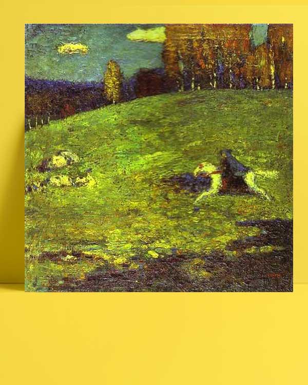Vasiliy Kandinskiy - Mavi Sürücü afişi