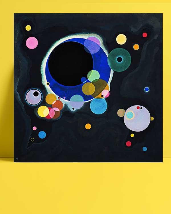 Vasiliy Kandinskiy - Several Circles afişi