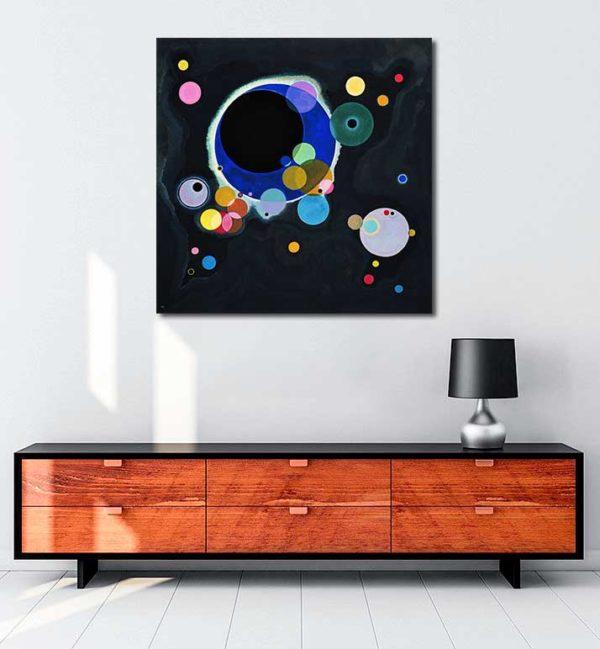 Vasiliy Kandinskiy - Several Circles kanvas tablo