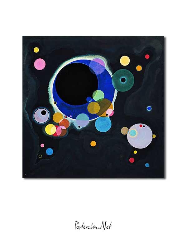 Vasiliy Kandinskiy - Several Circles posteri