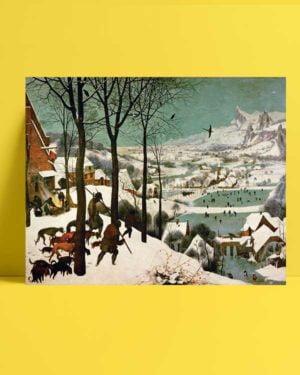 Pieter Brueghel - Kar Üzerinde Avcılar afişi