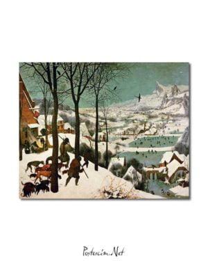 Pieter Brueghel - Kar Üzerinde Avcılar posteri