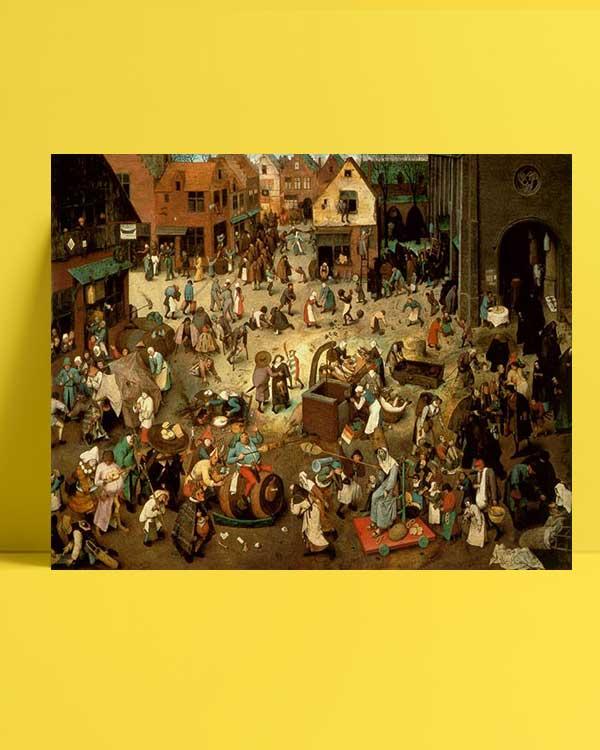 Pieter Brueghel - Karnaval ve Büyük Perhizin Kavgası afişi