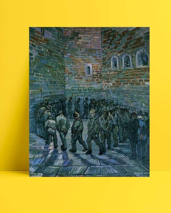 Vincent van Gogh - Mahkumlar Egzersiz Yapıyor afişi