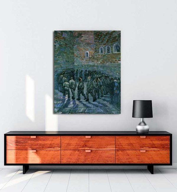 Vincent van Gogh - Mahkumlar Egzersiz Yapıyor kanvas tablo