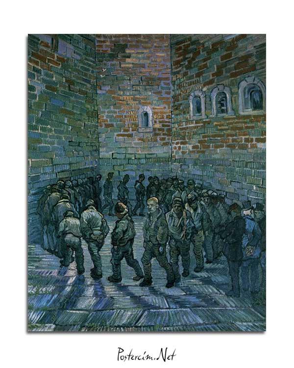 Vincent van Gogh - Mahkumlar Egzersiz Yapıyor posteri