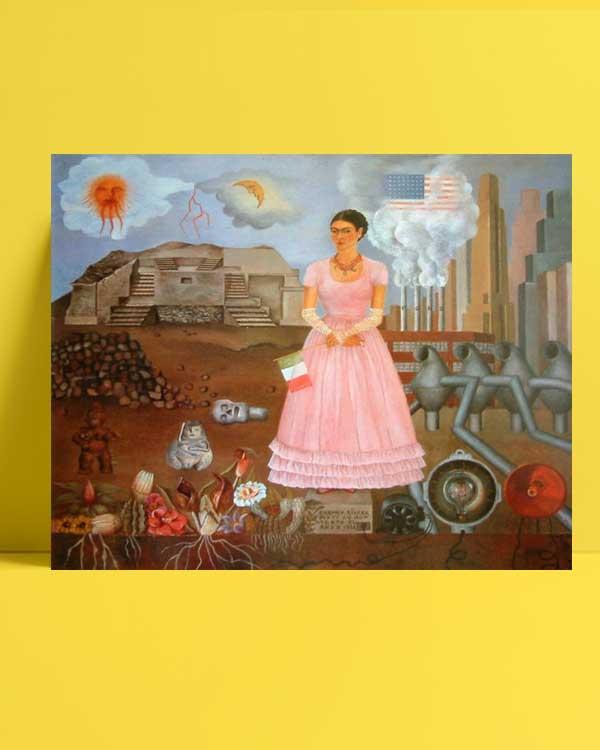 Frida KahloMeksika ve Amerika Sınırı Arasında Portre afişi
