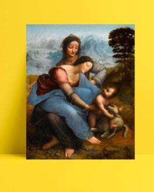 Leonardo Da Vinci - Meryem Ana, Çocuk İsa ve Azize Anna afişi