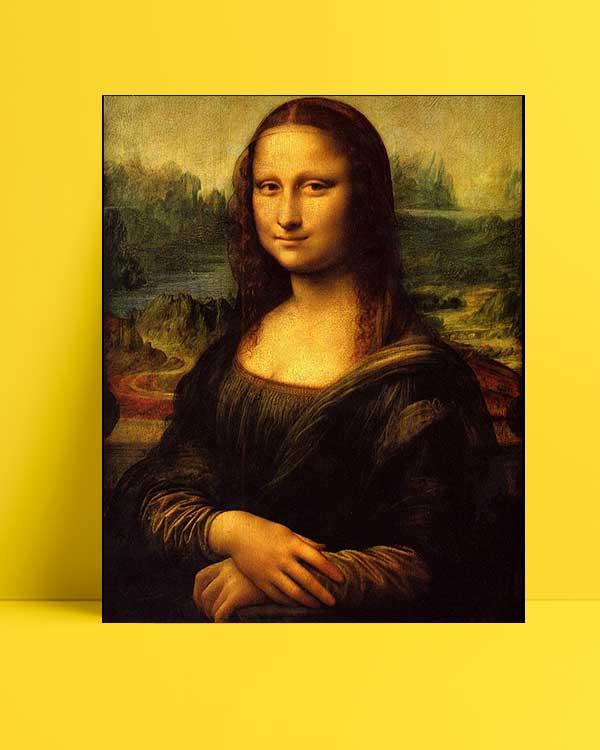 Leonardo Da Vinci - Mona Lisa afişi