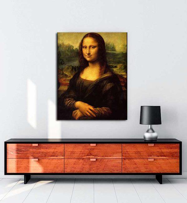 Leonardo Da Vinci - Mona Lisa kanvas tablo