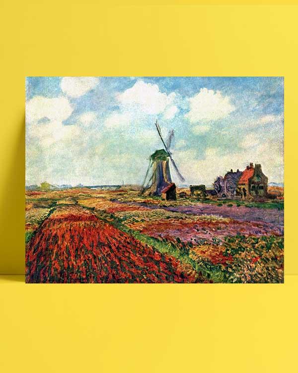Claude Monet - Hollanda'da Lale Tarlası afişi