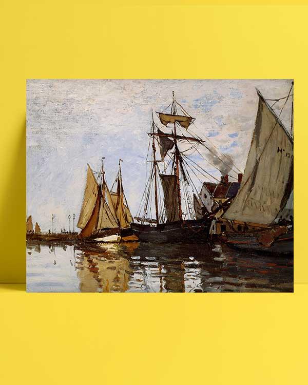 Claude Monet - Honfleur Limanında Tekneler afişi