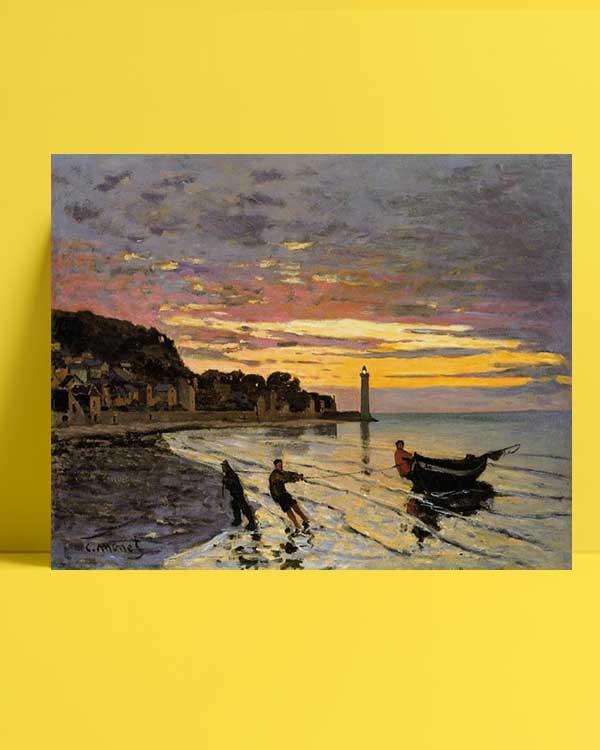 Claude Monet - Honfleur'da Bir Tekne afişi