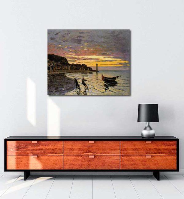 Claude Monet - Honfleur'da Bir Tekne kanvas tablo