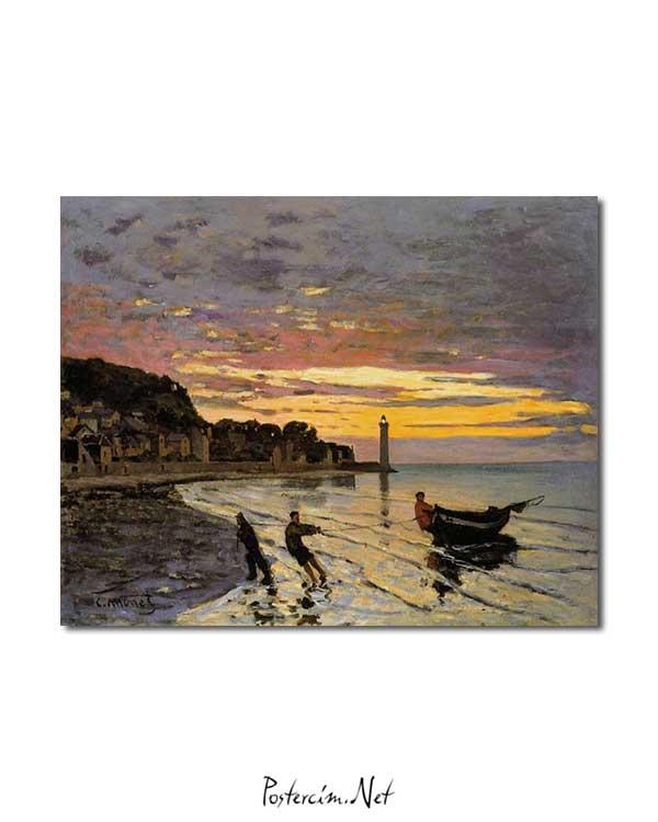 Claude Monet - Honfleur'da Bir Tekne posteri