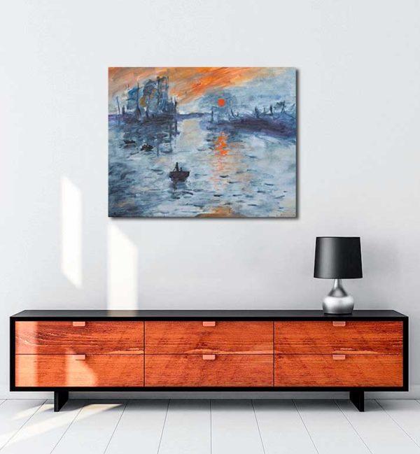 Claude Monet - İzlenim Gündoğumu kanvas tablo