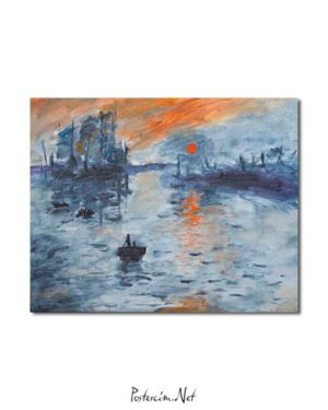 Claude Monet - İzlenim Gündoğumu posteri