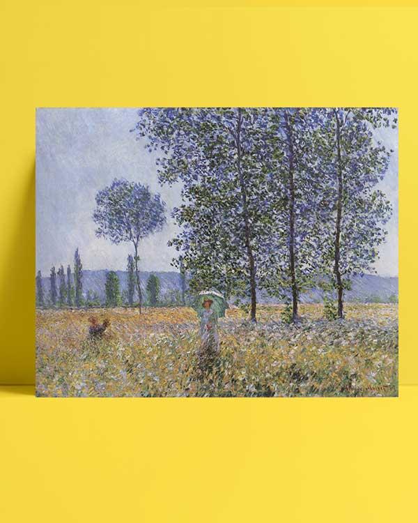 Claude Monet - Kavaklar Altında Günışığının Etkisi afişi